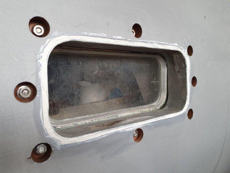 Moby Dick III Repariertes Bullauge